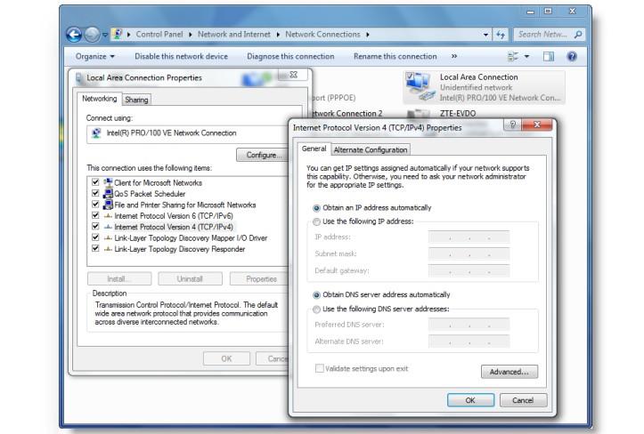 Windows DNS değiştirme ayarları